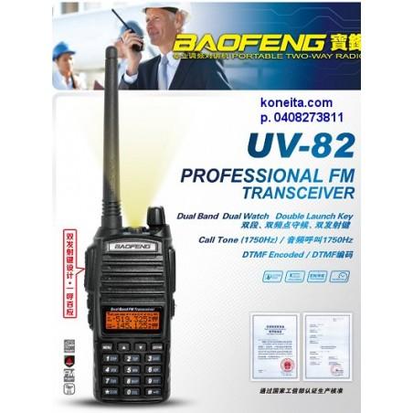 Baofeng UV-82CE PRO 160/443 MHz kanavaohjelmoitu kaksitaajuuskäsiradiopuhelin